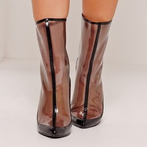 Misguided Perspex Boots